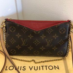 Louis Vuitton Pallas Crossbody Clutch Cherry